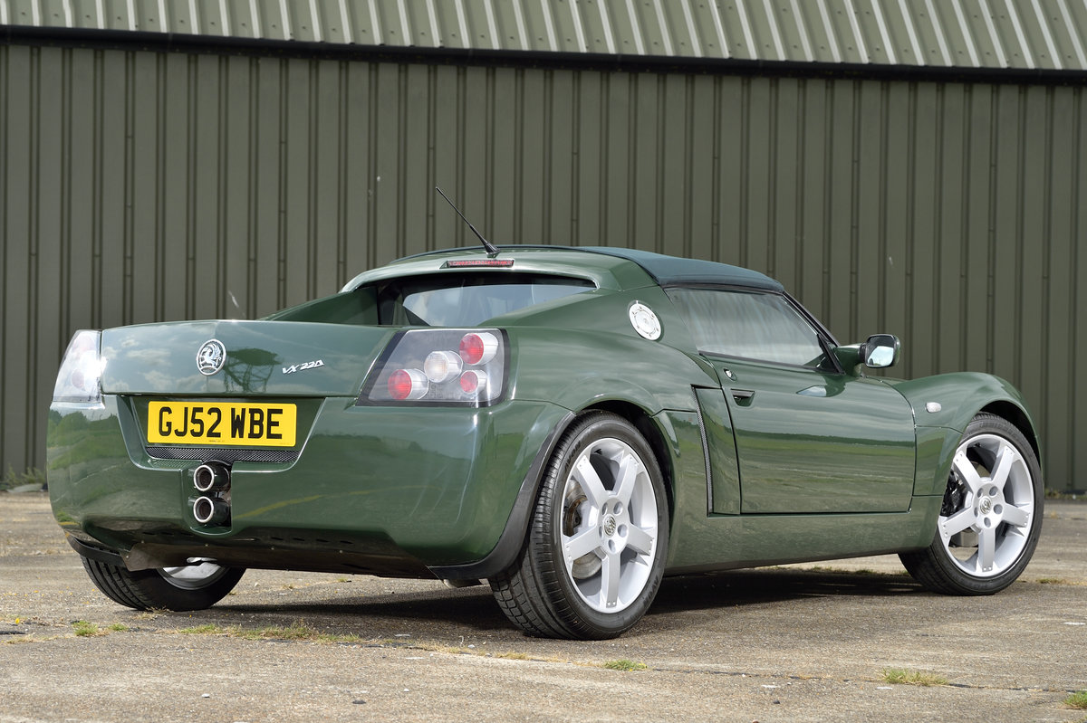 2003 Vauxhall VX220 2.2i 16v 1 of 7 British Racing Green For Sale (picture 2 of 6)