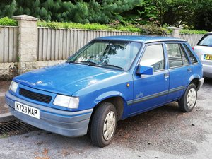 1992 Vauxhall Nova 5 door, 1.2, 44k miles, blue For Sale