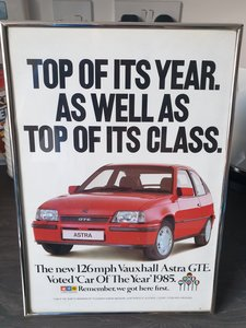 1985 Original Vauxhall Astra GTE advert