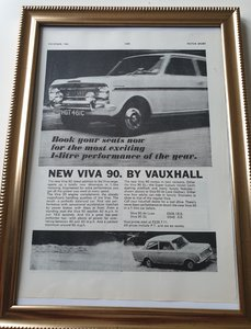 1965 Vauxhall Viva 90 Advert Original