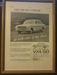 196 Original Vauxhall VX4/90 Advert