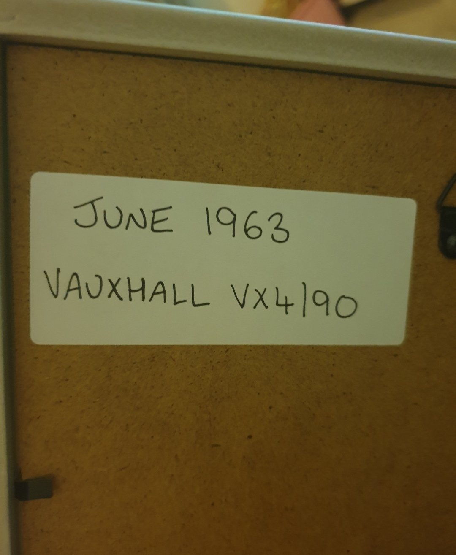 Original 1963 Vauxhall VX4/90 Framed Advert For Sale (picture 2 of 2)