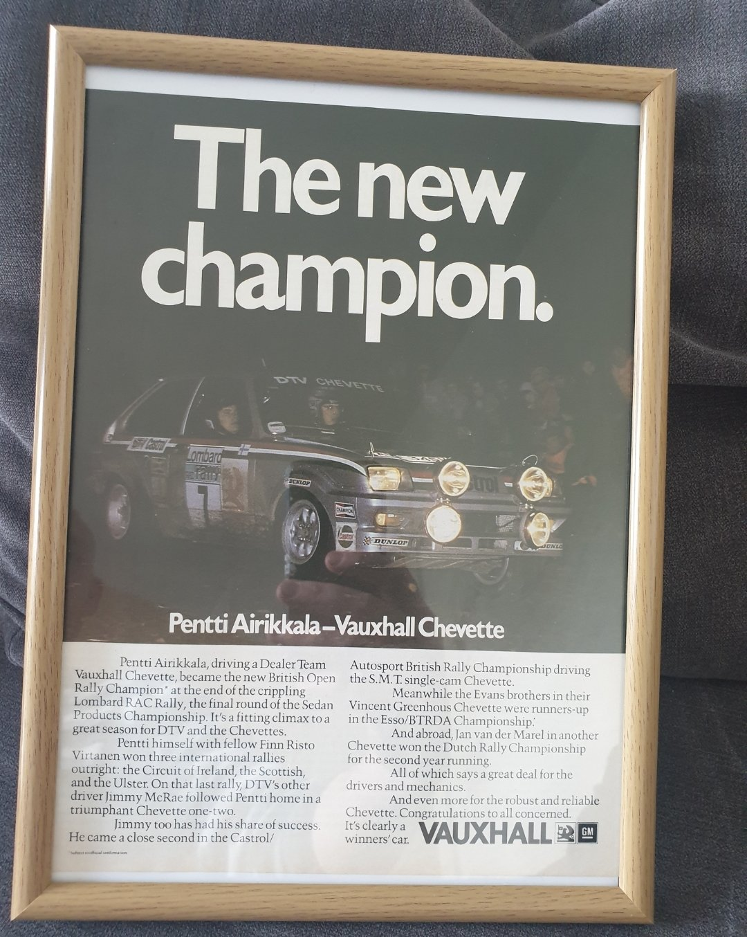 1980 Original Vauxhall Chevette Advert For Sale (picture 1 of 2)