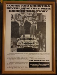 1990 Original Astra GTE Advert