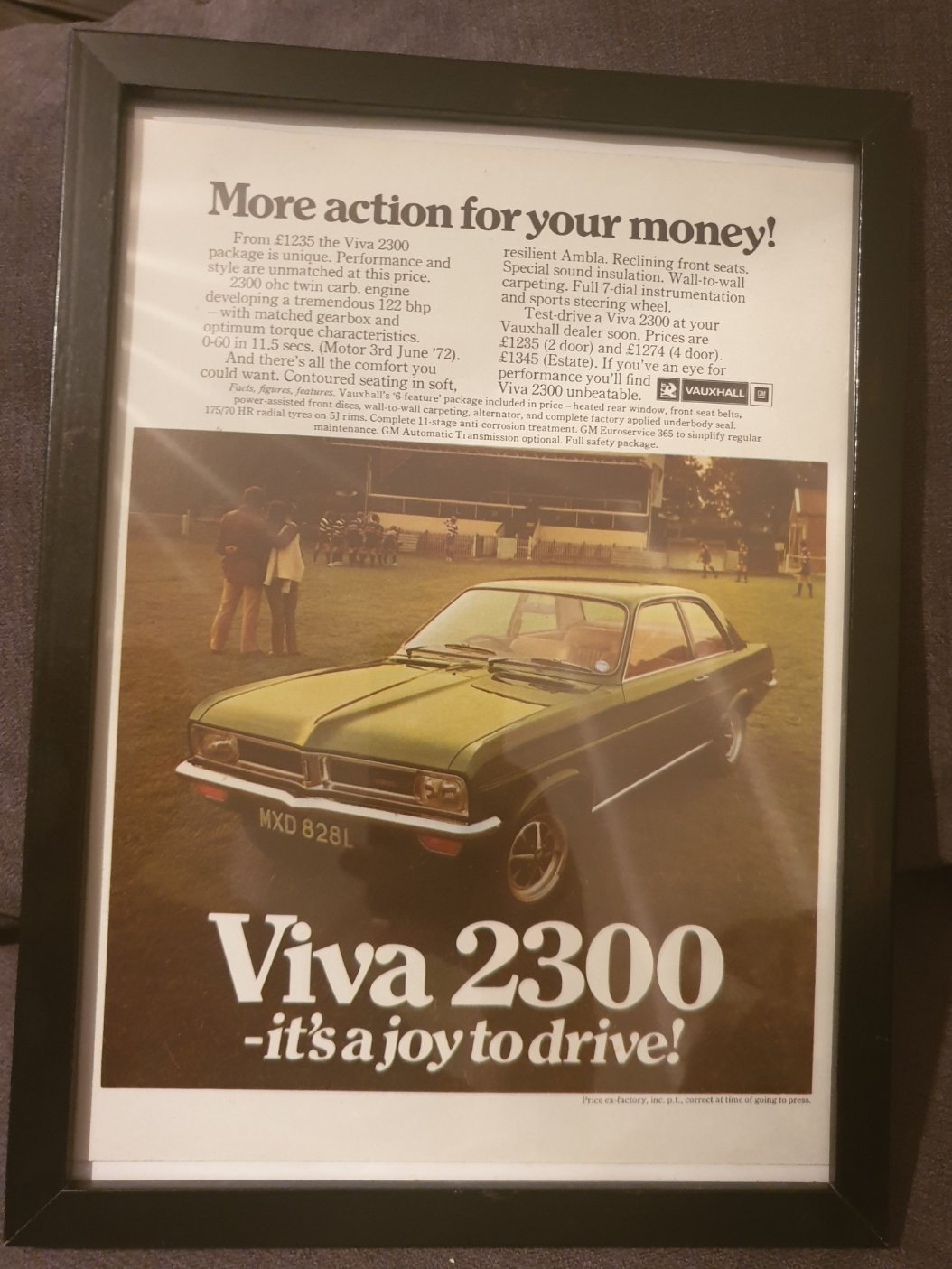 1972 Vauxhall Viva Advert Original  SOLD (picture 1 of 2)