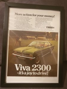 1972 Vauxhall Viva Advert Original