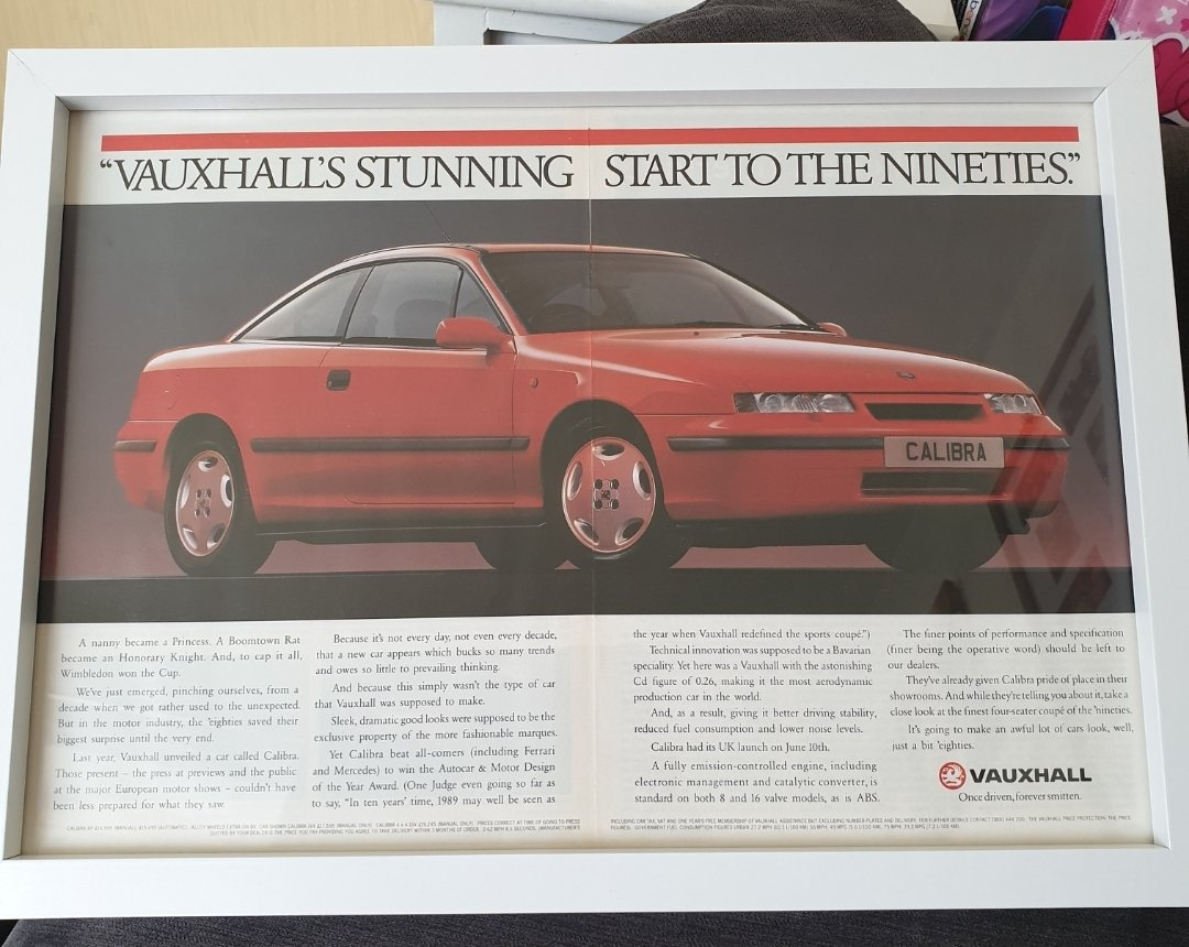 1990 Original Vauxhall Calibra Advert For Sale (picture 1 of 2)