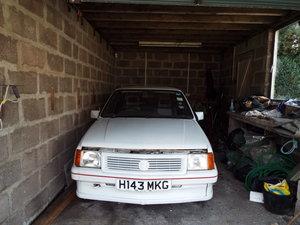 1990 Vauxhall Nova Sting 3 door hatchback in white