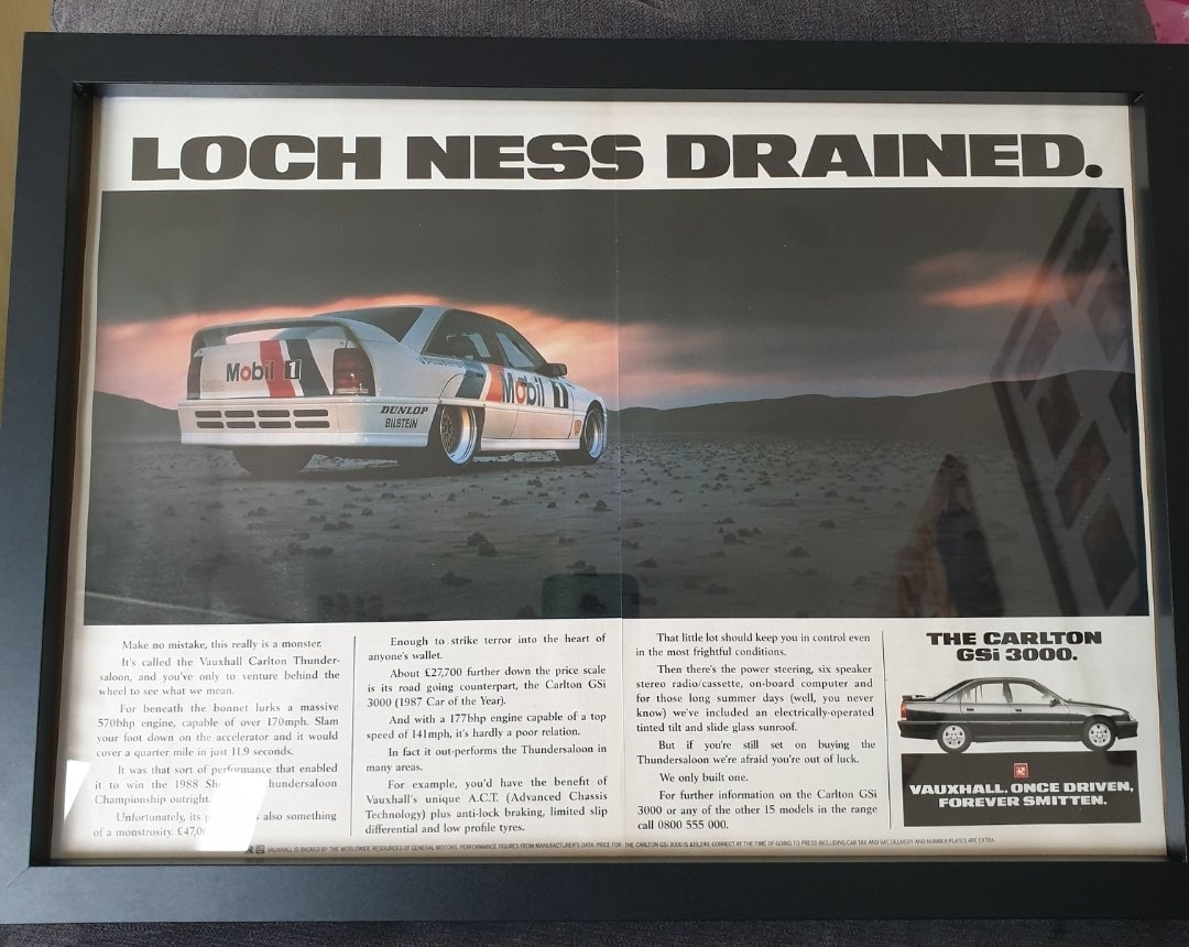 1989 Vauxhall Carlton GSi 3000 Advert Original  For Sale (picture 1 of 2)