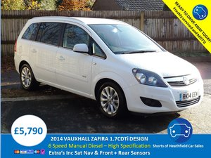2014 Vauxhall Zafira 1.7CDTi 16v ecoFLEX Design NAV For Sale