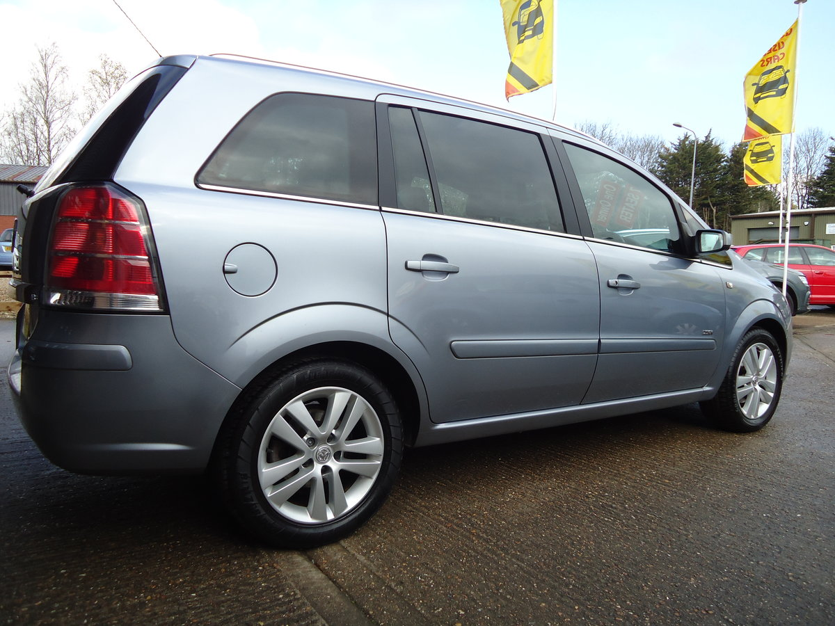 2007 ONE OWNER ZAFIRA / SEVEN SEATS / SENSIBLE MILEAGE For Sale (picture 1 of 6)