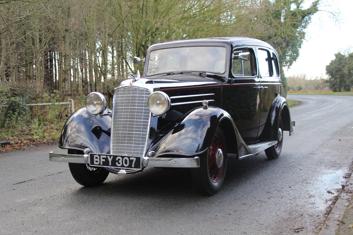 1935 Vauxhall Light Six Saloon De-Luxe 78k miles, superb history For Sale (picture 3 of 21)