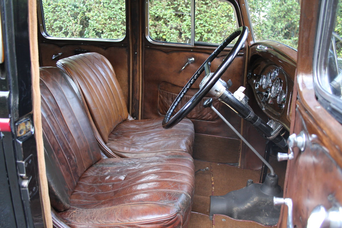 1935 Vauxhall Light Six Saloon De-Luxe 78k miles, superb history For Sale (picture 9 of 21)