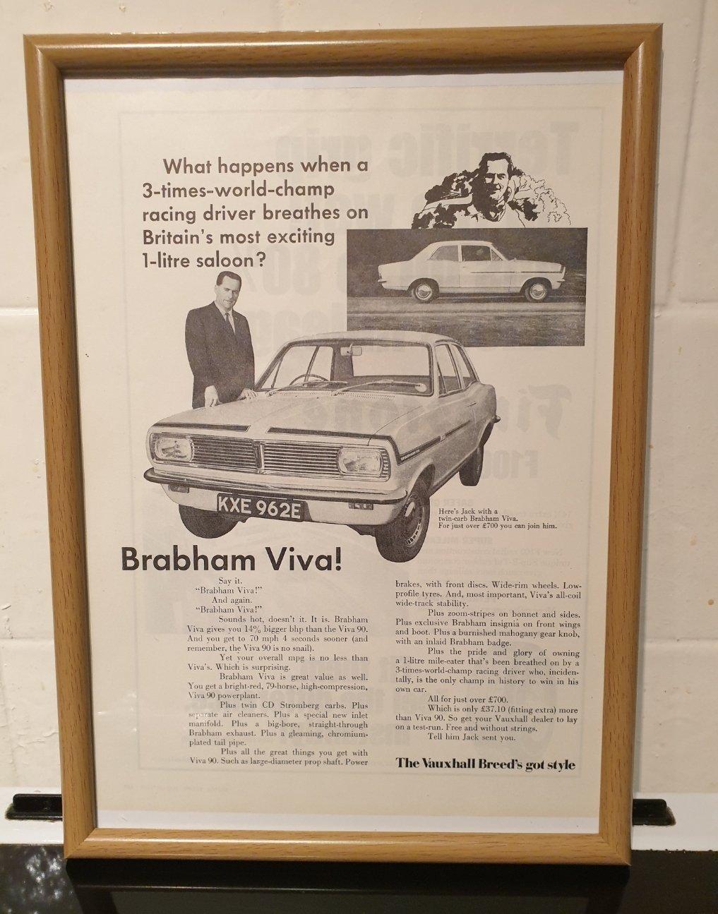 1967 Vauxhall Brabham Viva Advert Original  For Sale (picture 1 of 2)