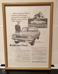 1967 Vauxhall Brabham Viva Advert Original