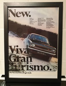 1968 Vauxhall Viva GT Advert Original