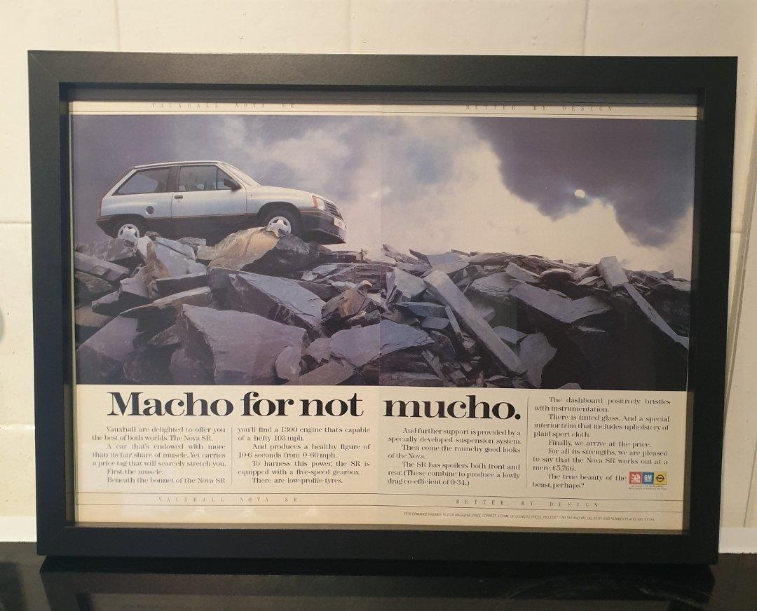 1985 Vauxhall Nova SR Advert Original  For Sale (picture 1 of 2)