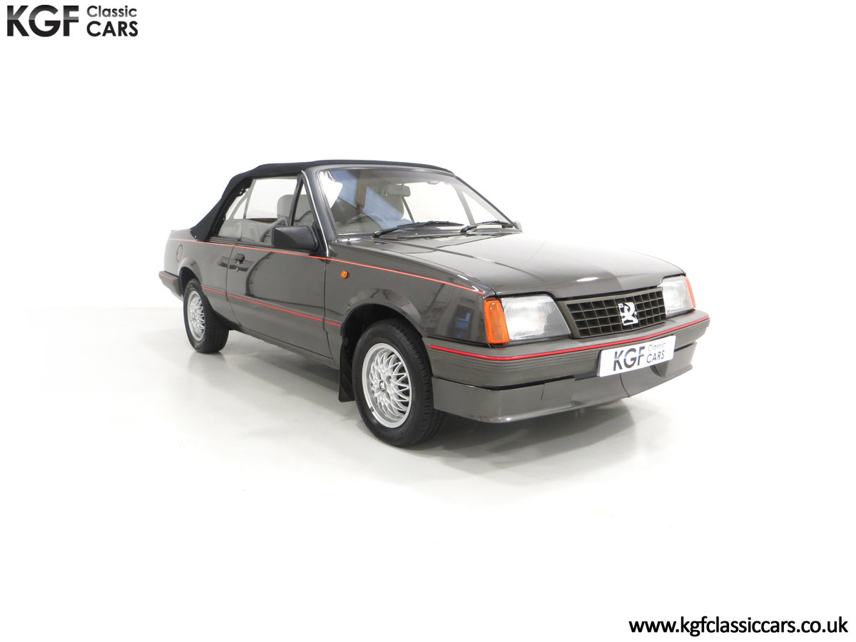 1986 A Vauxhall Cavalier 1.8i Convertible with just 56,559 Miles. SOLD (picture 1 of 6)