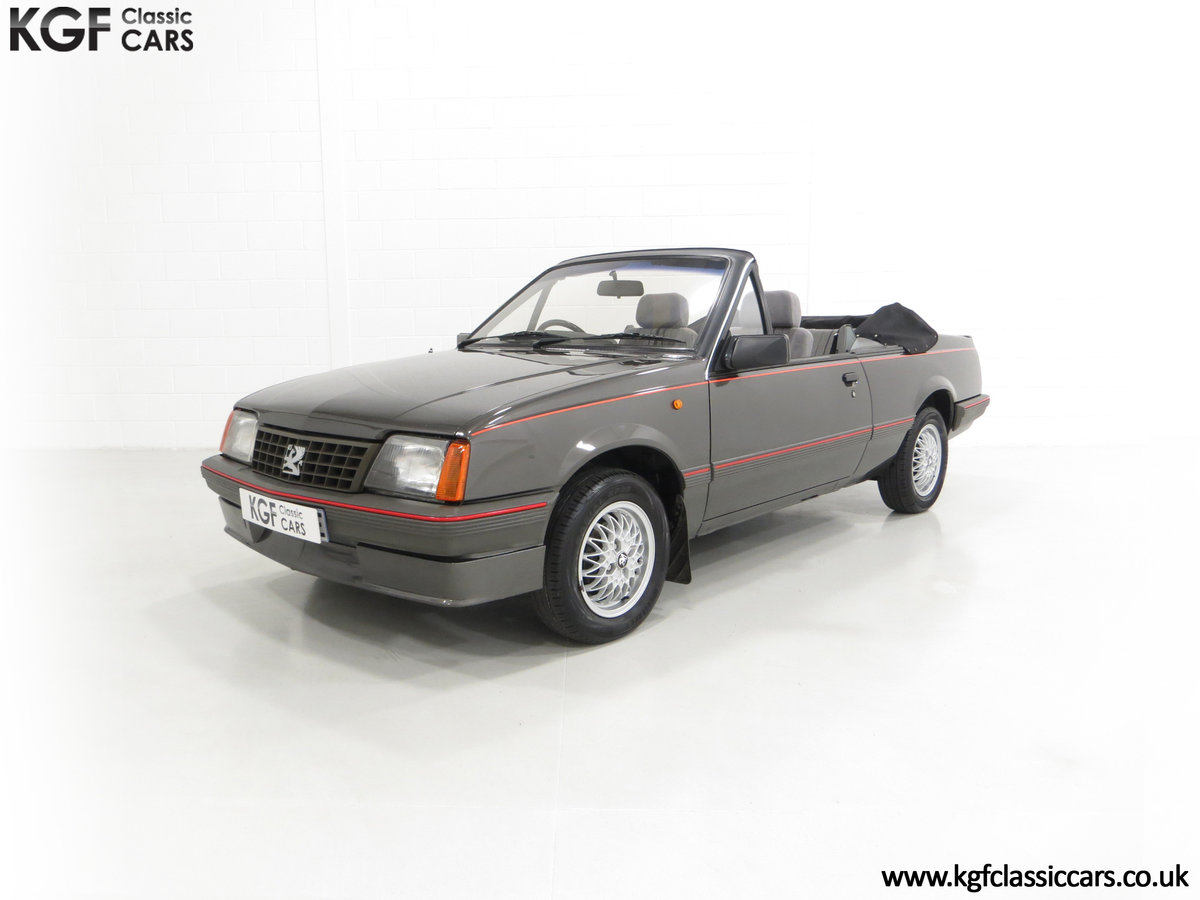 1986 A Vauxhall Cavalier 1.8i Convertible with just 56,559 Miles. SOLD (picture 2 of 6)