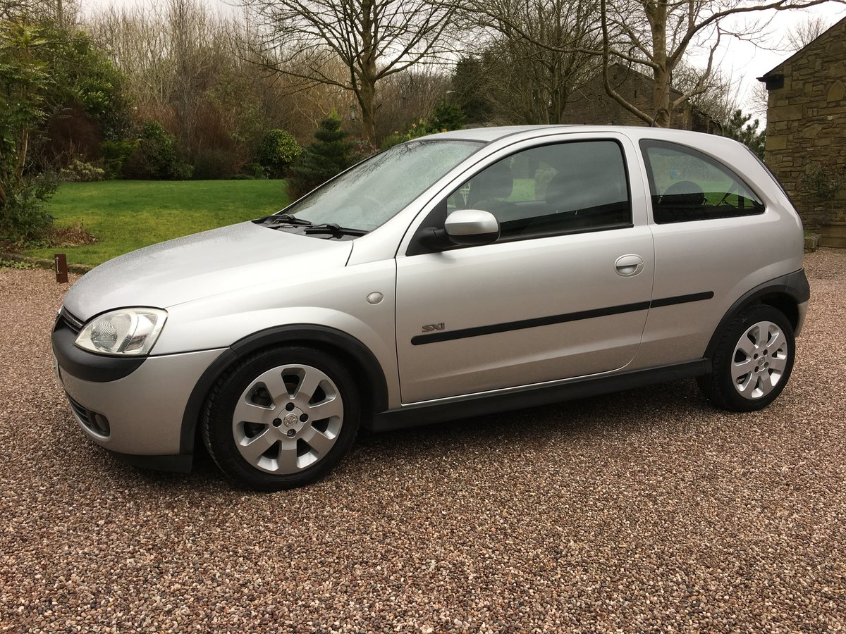 2003 VAUXHALL CORSA 1.2 SXi ONE LADY OWNER LOW MILES FSH For Sale (picture 2 of 6)