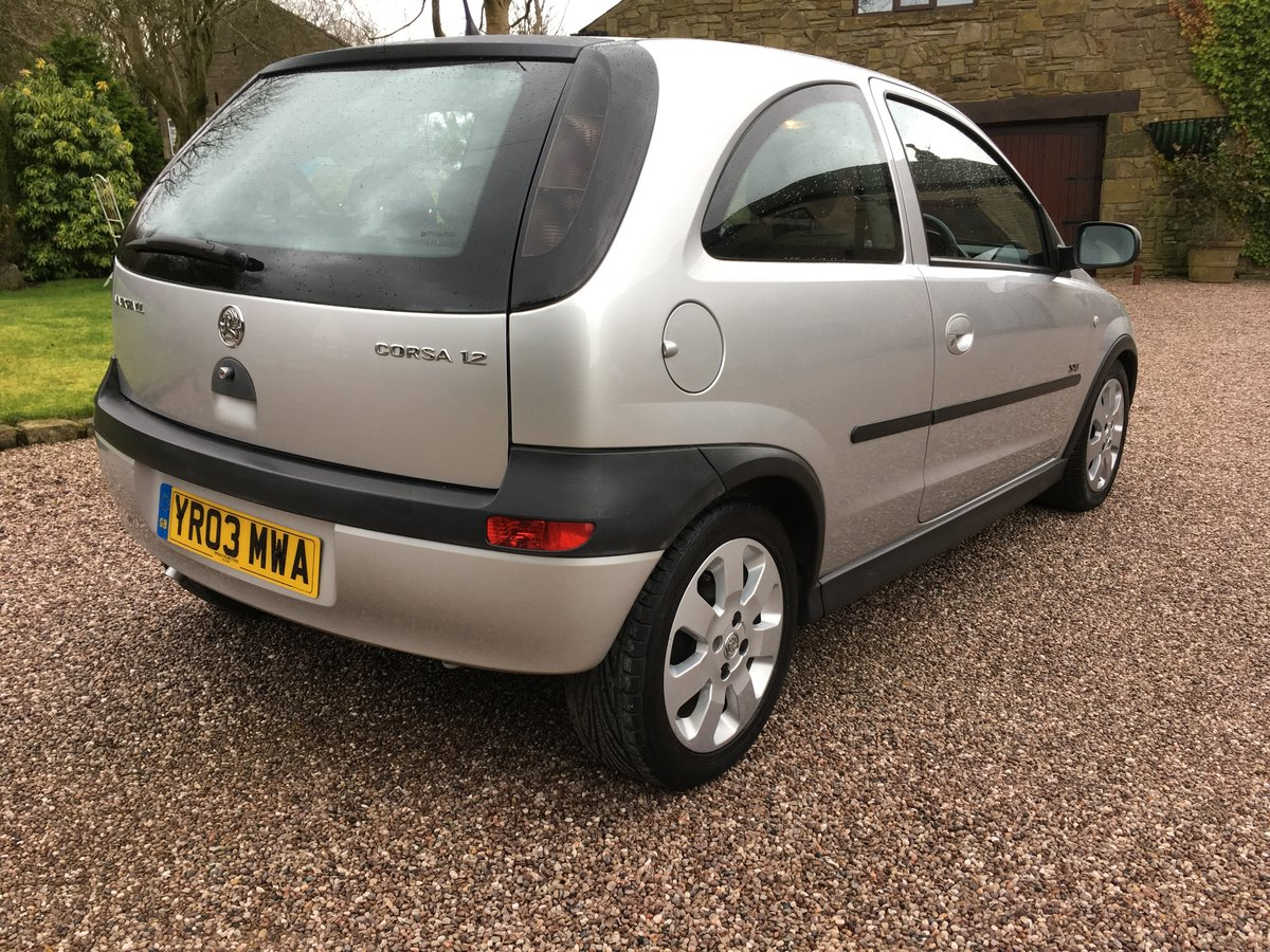 2003 VAUXHALL CORSA 1.2 SXi ONE LADY OWNER LOW MILES FSH For Sale (picture 3 of 6)