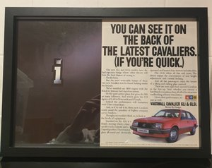 1985 Original Vauxhall Cavalier Framed Advert