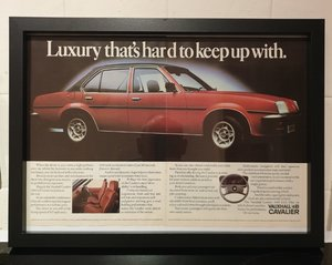 1980 Vauxhall Cavalier Framed Advert Original