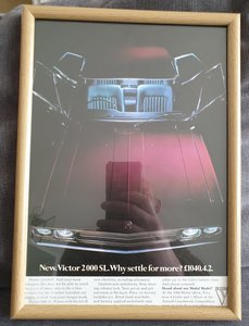Original 1970 Vauxhall Victor Framed Advert
