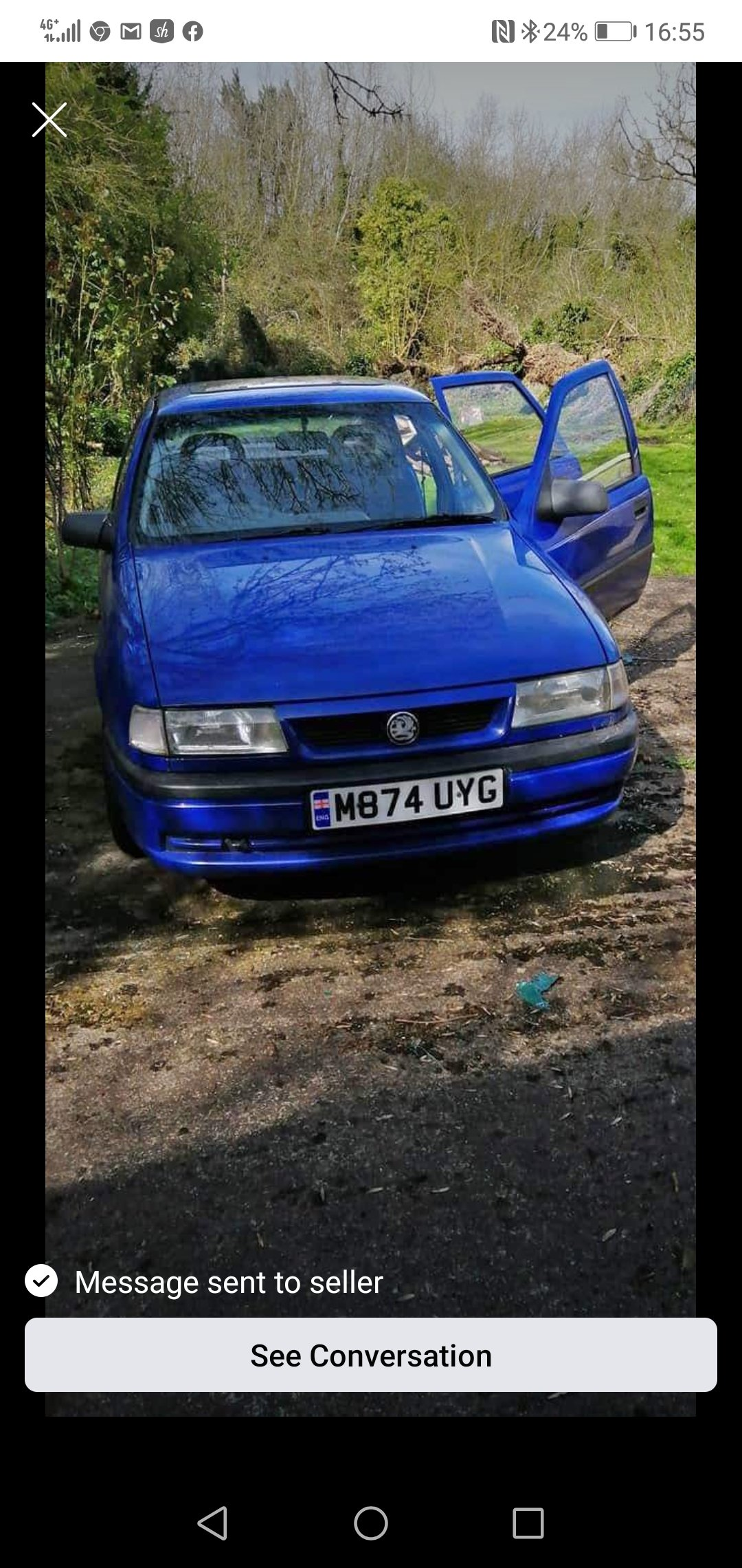 1994 Vauxhall cavalier 1.7 td ** restoration project * For Sale (picture 2 of 6)
