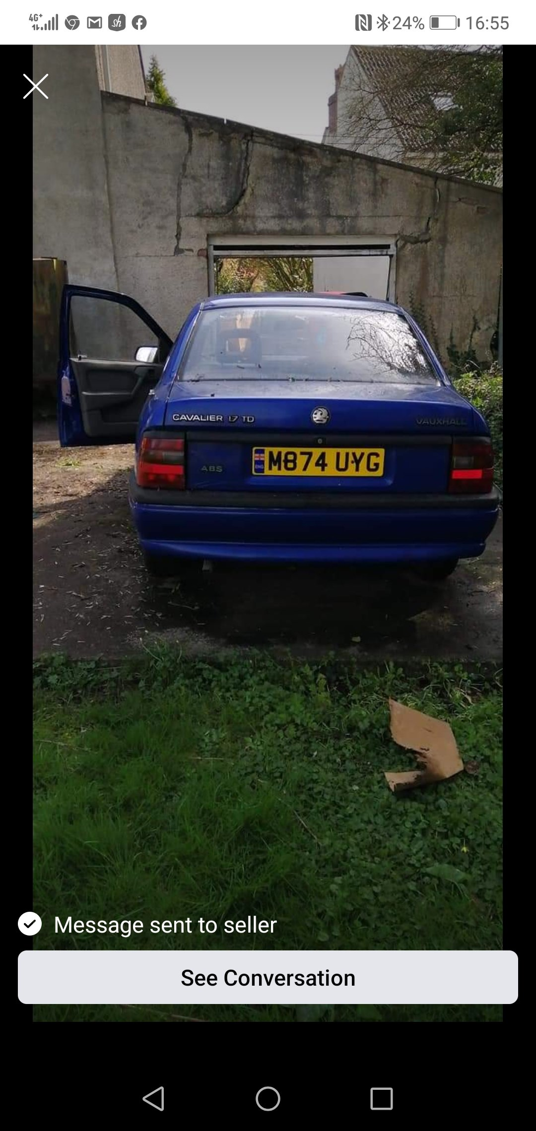 1994 Vauxhall cavalier 1.7 td ** restoration project * For Sale (picture 4 of 6)