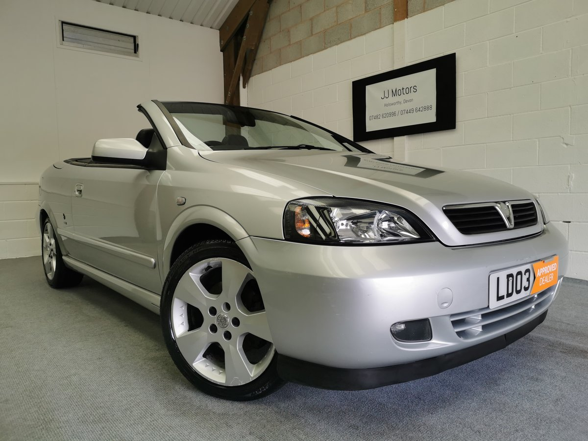 2003 Vauxhall Astra 1.8 16v Convertible *MOT'd 06/06/21* For Sale (picture 1 of 6)