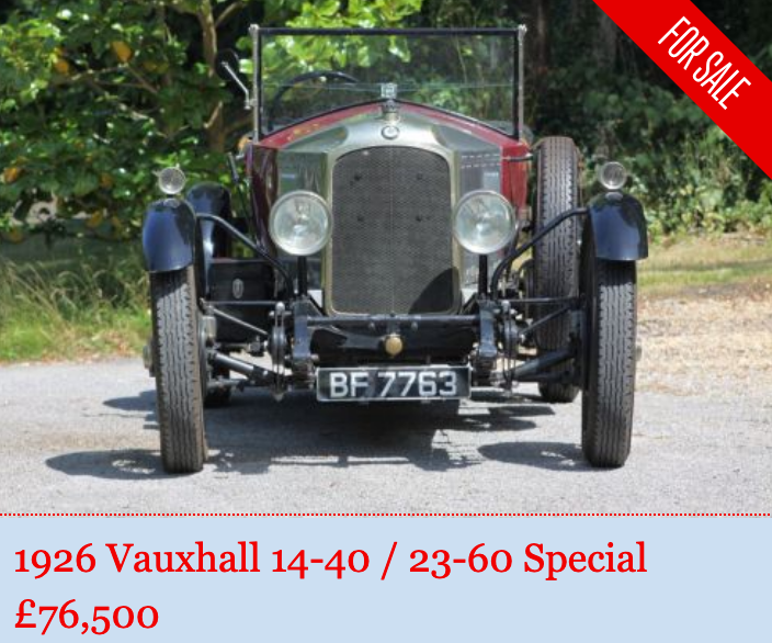 1926 Vintage Vauxhall 30-98 pretender SOLD (picture 1 of 5)