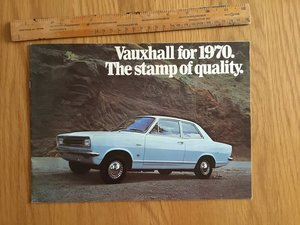 1970 Vauxhall model range brochure SOLD