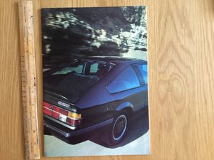 1984 Vauxhall Monza GSE brochure For Sale