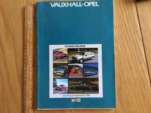 Vauxhall model range brochure 1984 For Sale