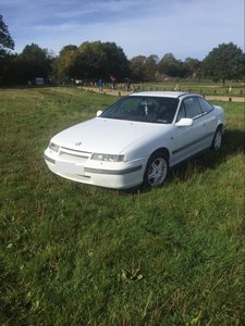 1992 White Vauhall Calibra