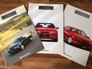 Vauxhall Calibra sales brochures