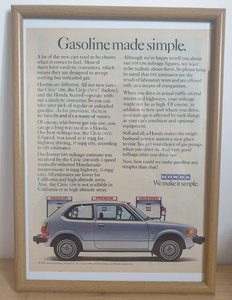 Picture of 1968 Original 1978 Honda Civic Framed Advert