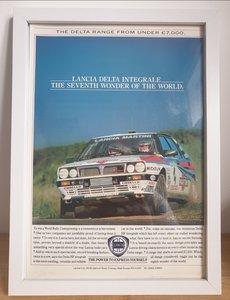 Picture of 1979 Original 1989 Lancia Delta HF Integrale Framed Ad