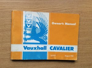 VAUXHALL CAVALIER OWNERS MANUAL