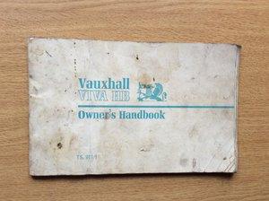 Vauxhall VIVA HB OWNERS HANDBOOK