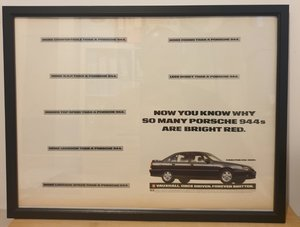 Picture of 1980 Original 1989 Vauxhall Carlton GSi 3000 Framed Ad