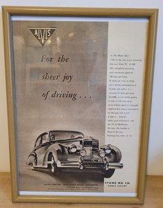 Original 1954 Alvis Grey Lady Framed Advert