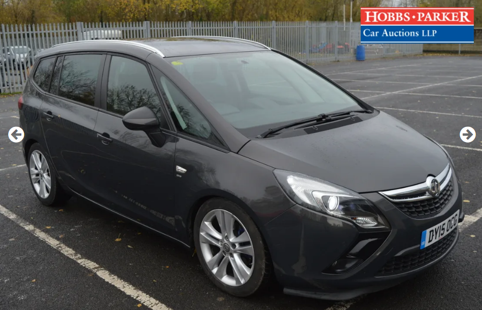 2015 Vauxhall Zafira Tourer - 63,886 Miles - Auction 25th For Sale by Auction (picture 1 of 6)