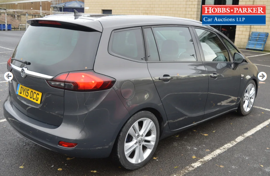 2015 Vauxhall Zafira Tourer - 63,886 Miles - Auction 25th For Sale by Auction (picture 2 of 6)