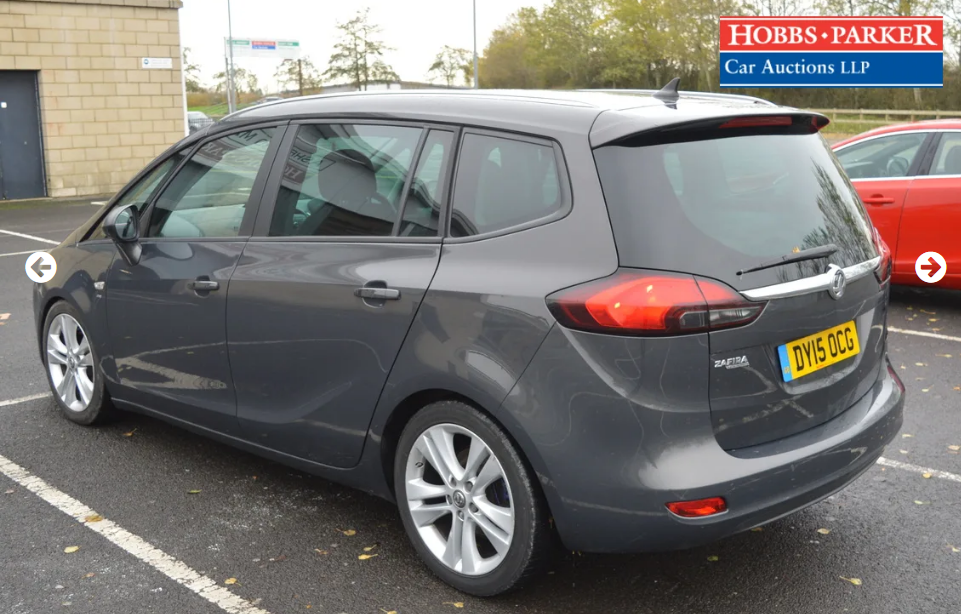 2015 Vauxhall Zafira Tourer - 63,886 Miles - Auction 25th For Sale by Auction (picture 3 of 6)