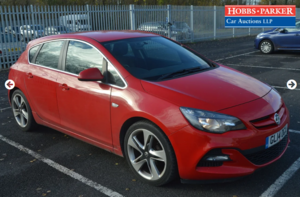 Astra Limited Edition Turbo 53,888 Miles for auction 25th