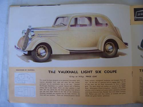 VAUXHALL LIGHT SIX 1936 SALES BROCHURE For Sale (picture 3 of 6)