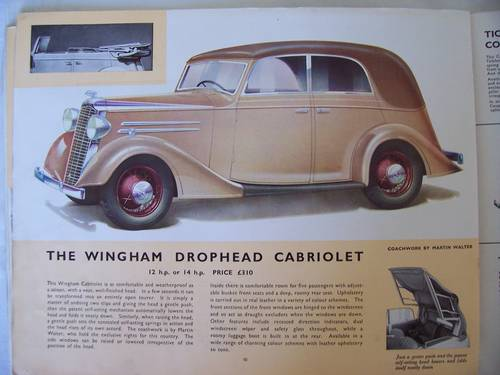 VAUXHALL LIGHT SIX 1936 SALES BROCHURE For Sale (picture 4 of 6)