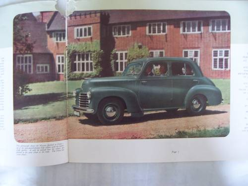 VAUXHALL VELOX-6 & WYVERN-4 SALES BROCHURE 1950 For Sale (picture 4 of 6)
